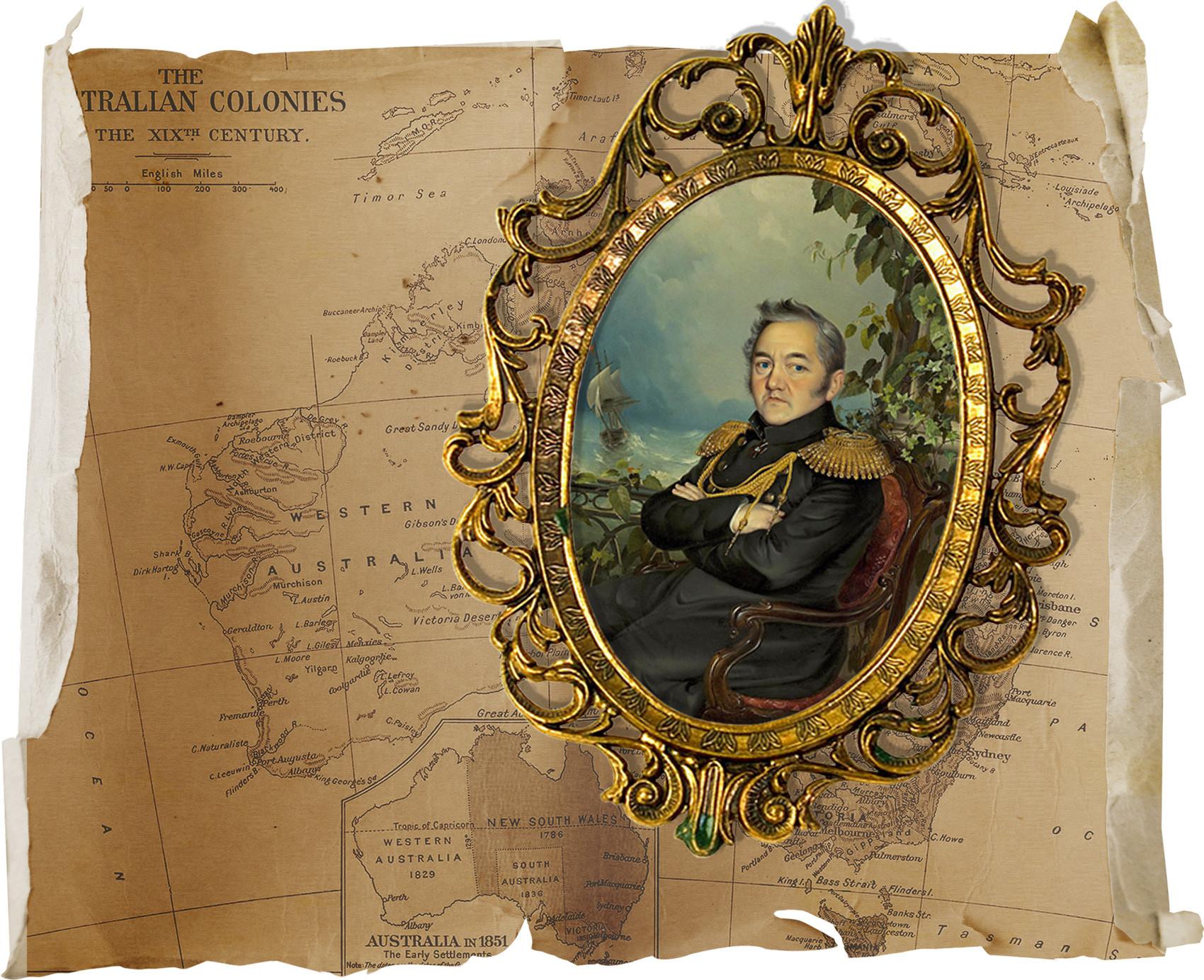 Ruski pomorščak Mihail Lazarjev je leta 1814 med prvimi prinesel v Avstralijo novico o vojaškem ponižanju Napoleona leta 1812.