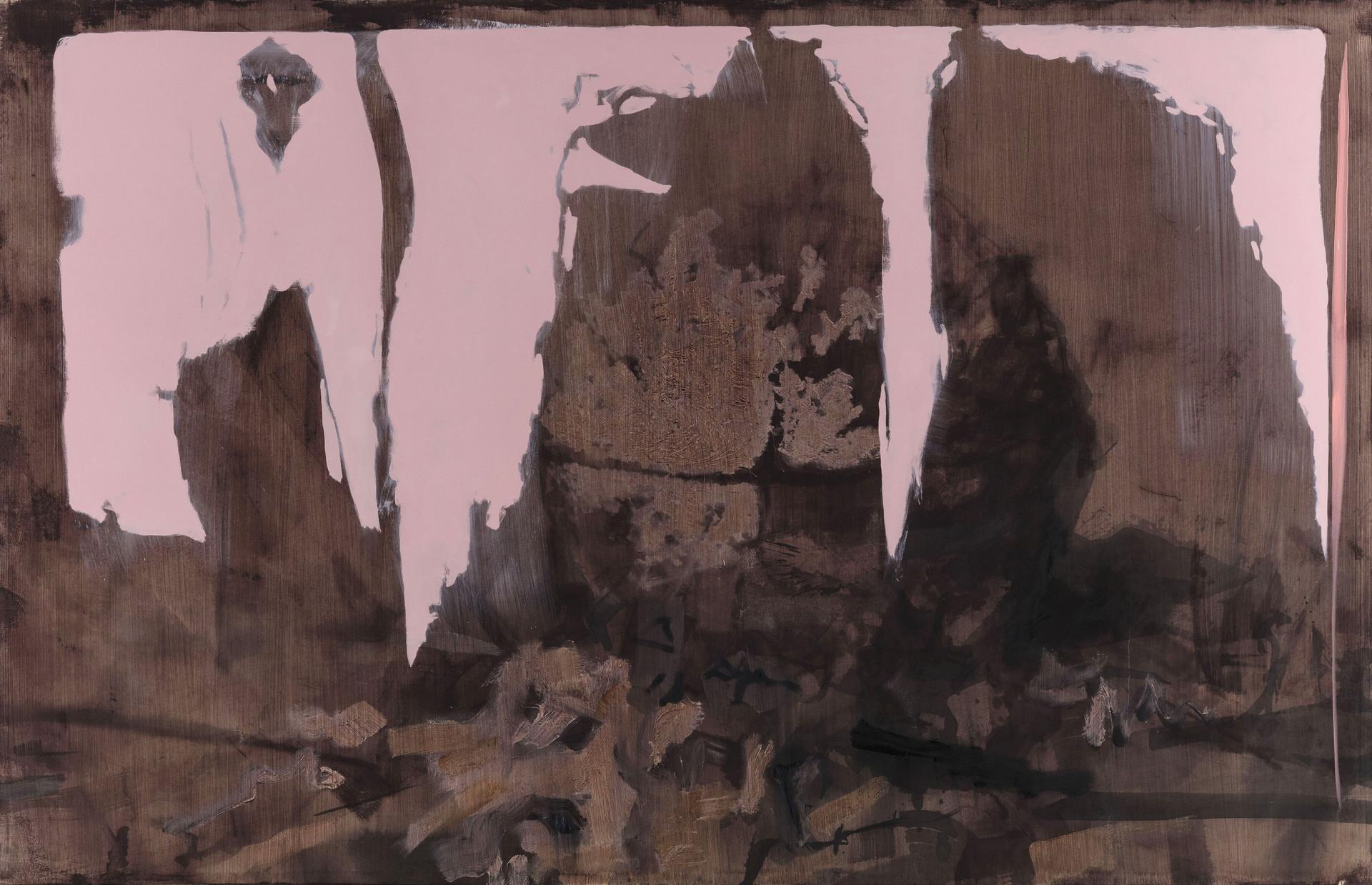 Sans titre, de la série RNP2VS. 283 x 440 cm. Huile sur toile. 2018.