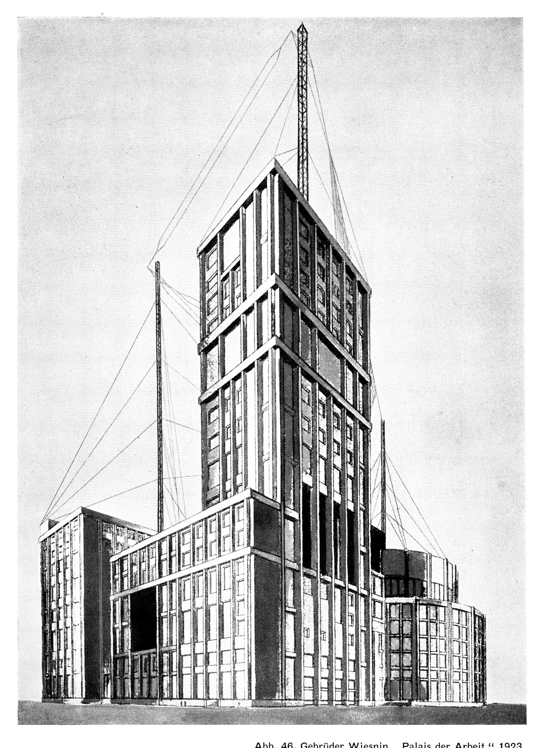 """Irmãos Viesnin, """"Palácio do Trabalho"""", 1923"""