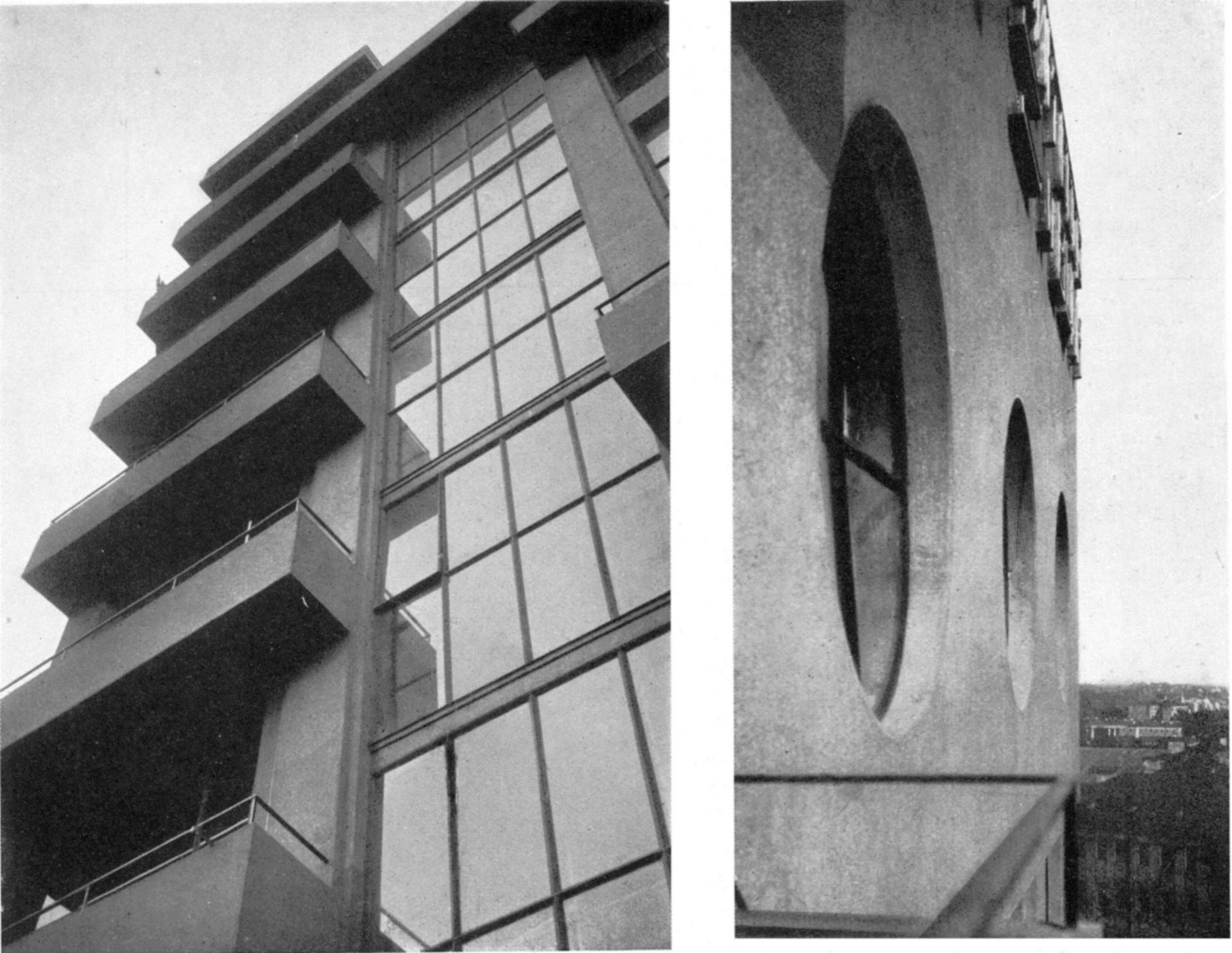 G. Barkhin, detalhes do edifício Izvéstia