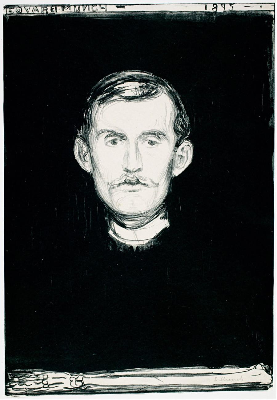 'Autorretrato', de Edvard Munch.