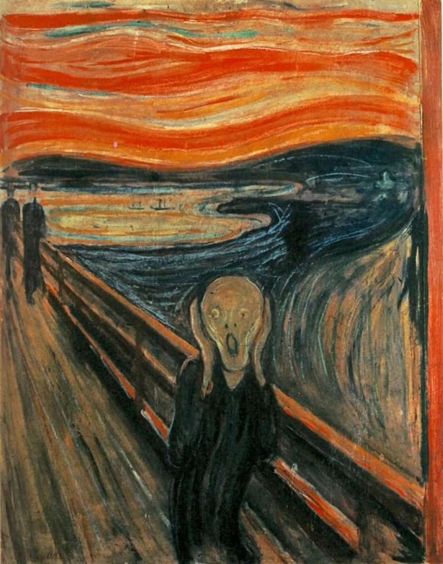 """O grito"" (1893). Edvard Munch."