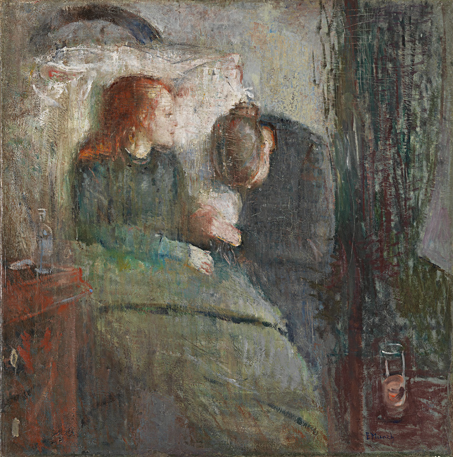 """""""A menina doente"""" (1885-1886). Edvard Munch."""