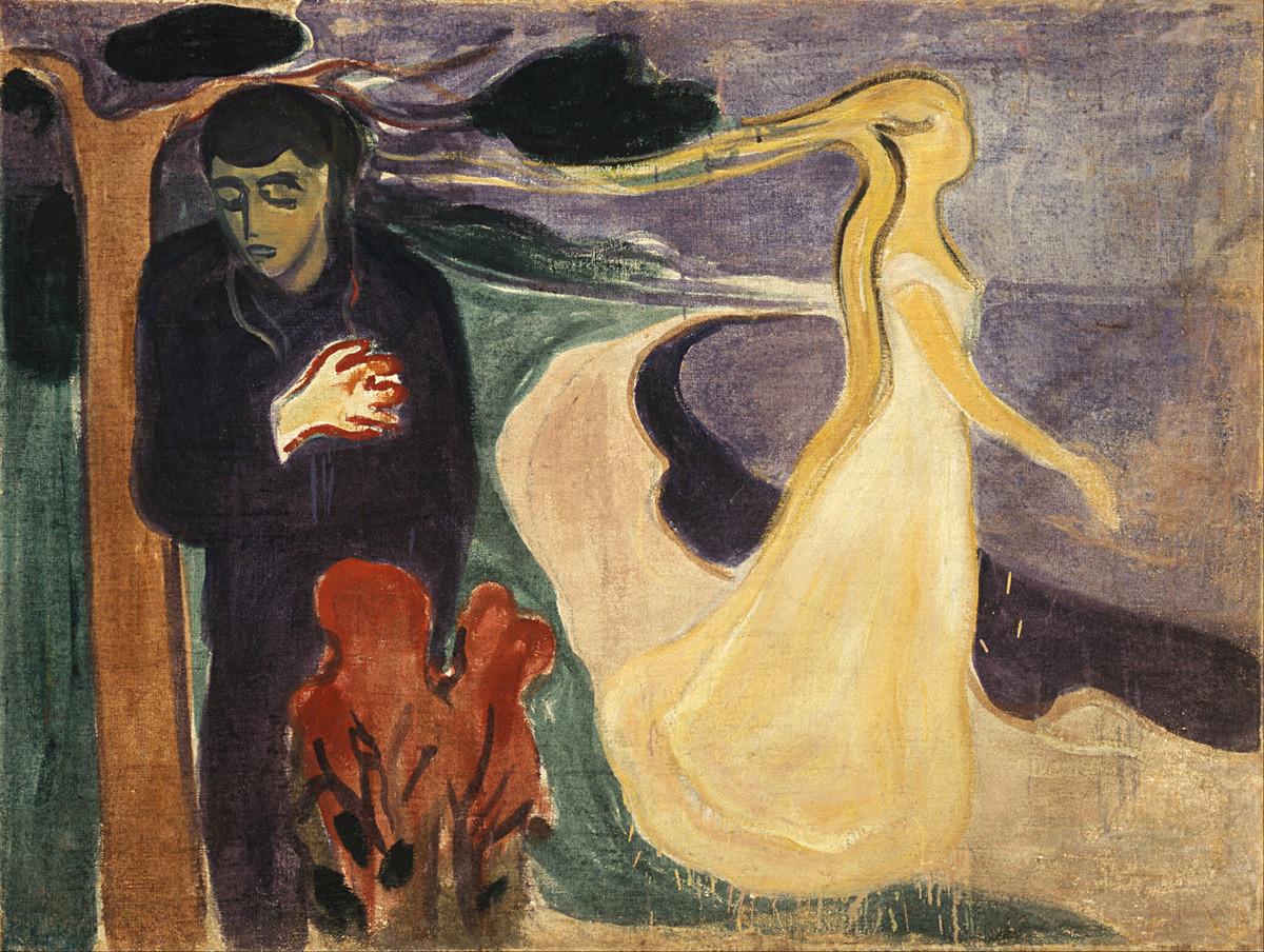 """""""Separação"""" (1896). Edvard Munch."""