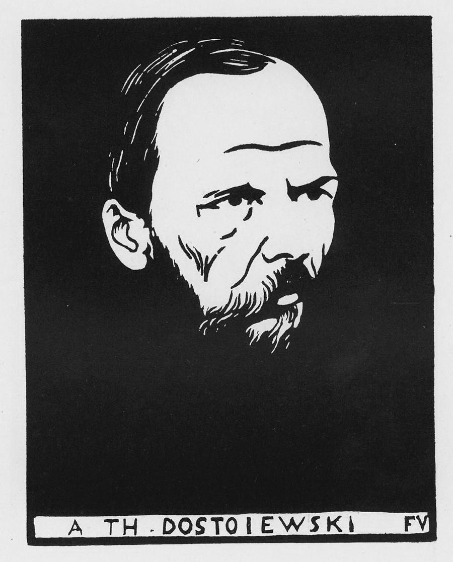 Retrato de Fiódor Dostoiévski. Félix Vallotton.