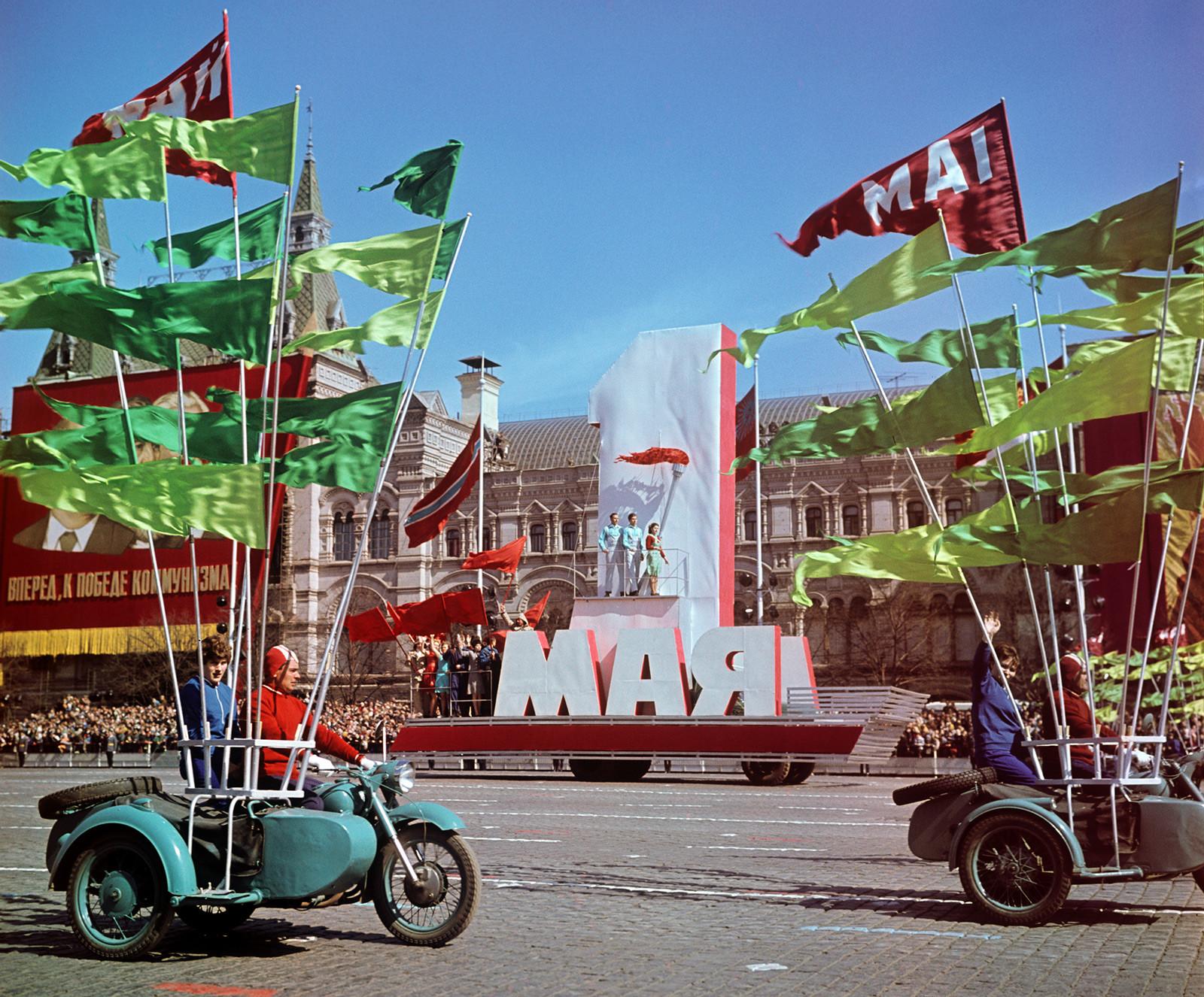Die 1.-Mai-Demonstration auf dem Roten Platz im Jahr 1970