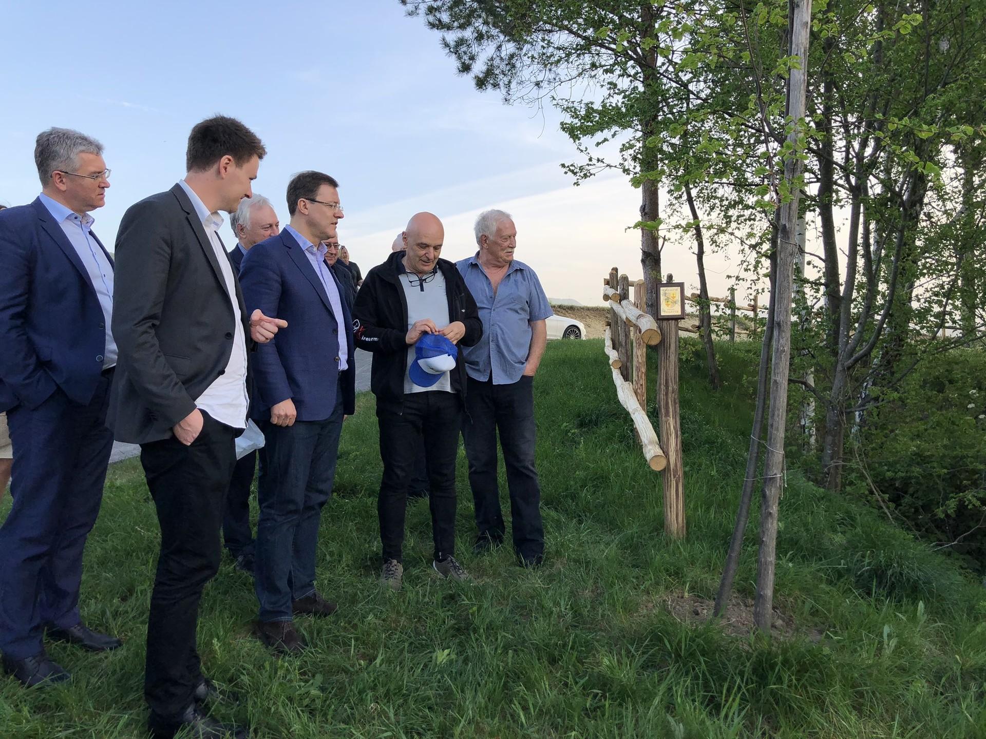 Drevo prijateljstva v Gabrju in obisk guvernerja Samarske regije, april 2019