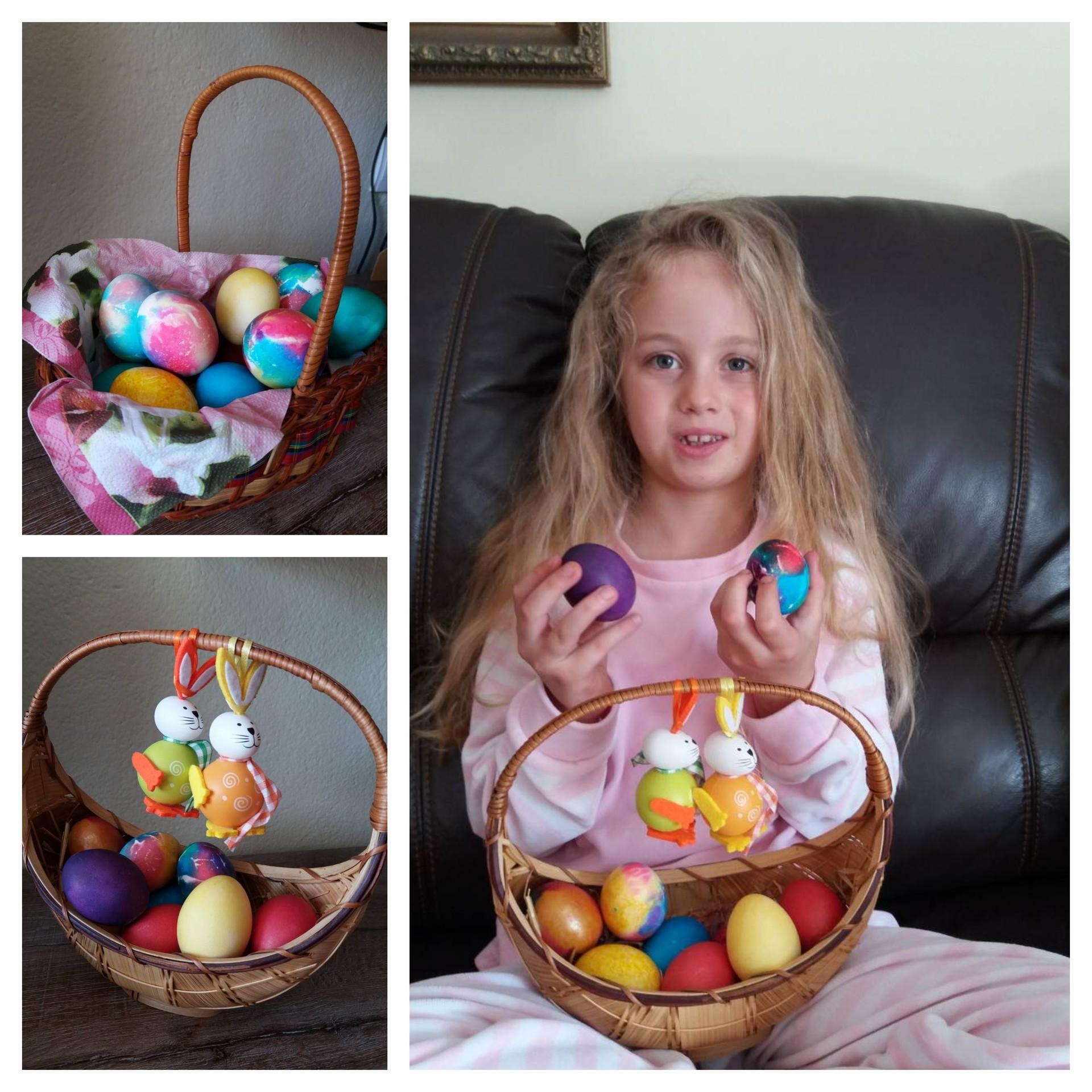 8-годишната убавица Алиса со велигднески јајца