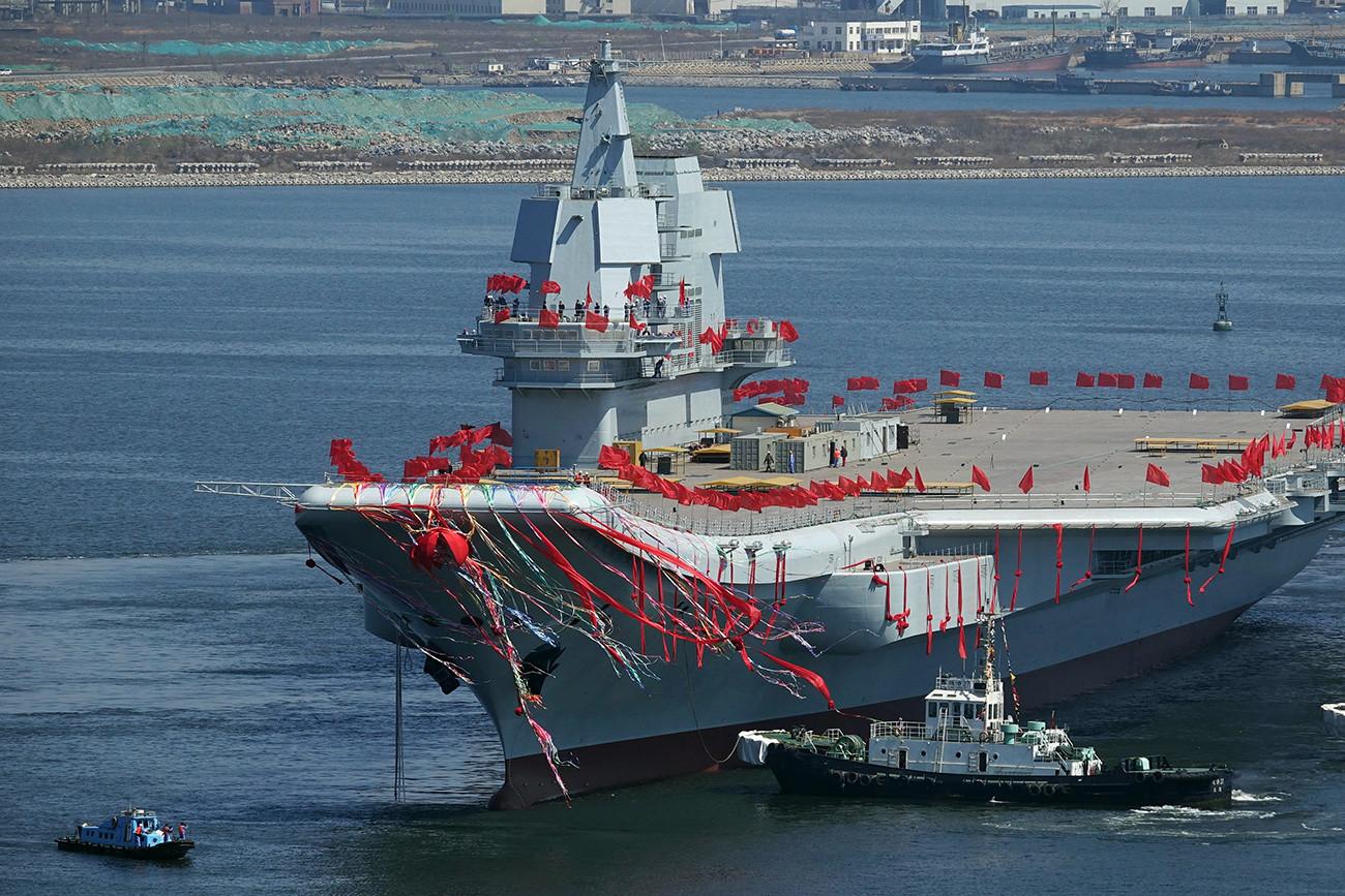 Portaaviones chino Shandong.