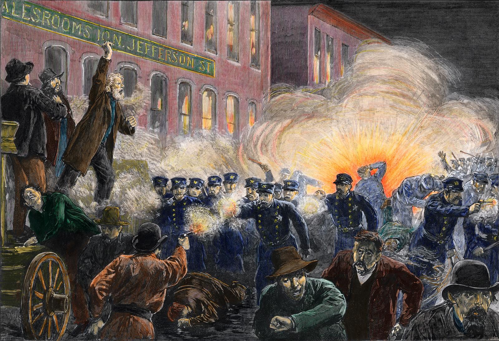 Revolta de Haymarket enfureceu o movimento trabalhista internacional, tornando a luta dos trabalhadores por seus direitos mais intensa e brutal
