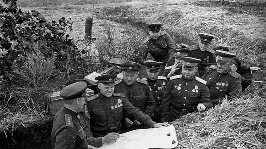 Битка код Курска, 1943. Северни део курске избочине су браниле трупе Централног фронта под командом Константина Рокосовског.