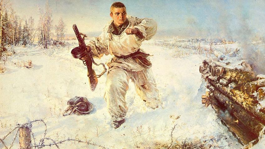 """Подвигот на Александар Матросов"", В.Е. Панфилов, 1953."