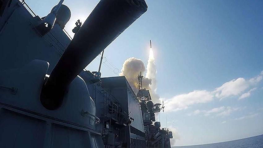 Lanzamiento del misil Kalibr.