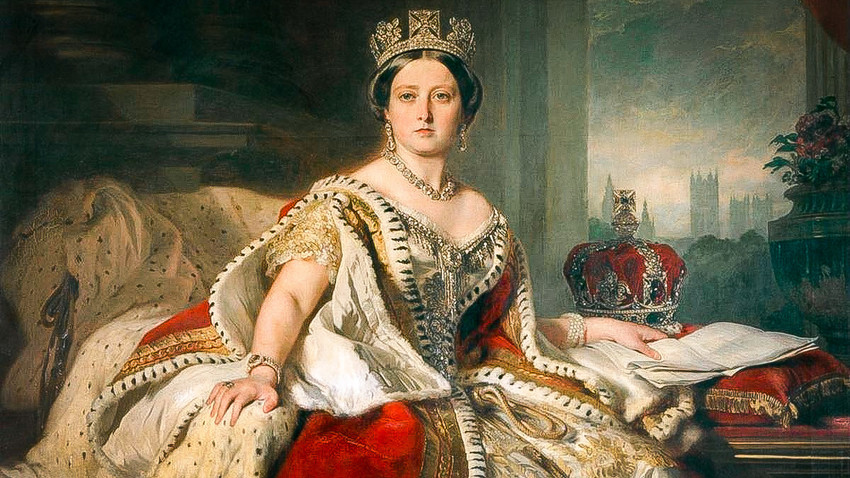 Portrait of Queen Victoria.