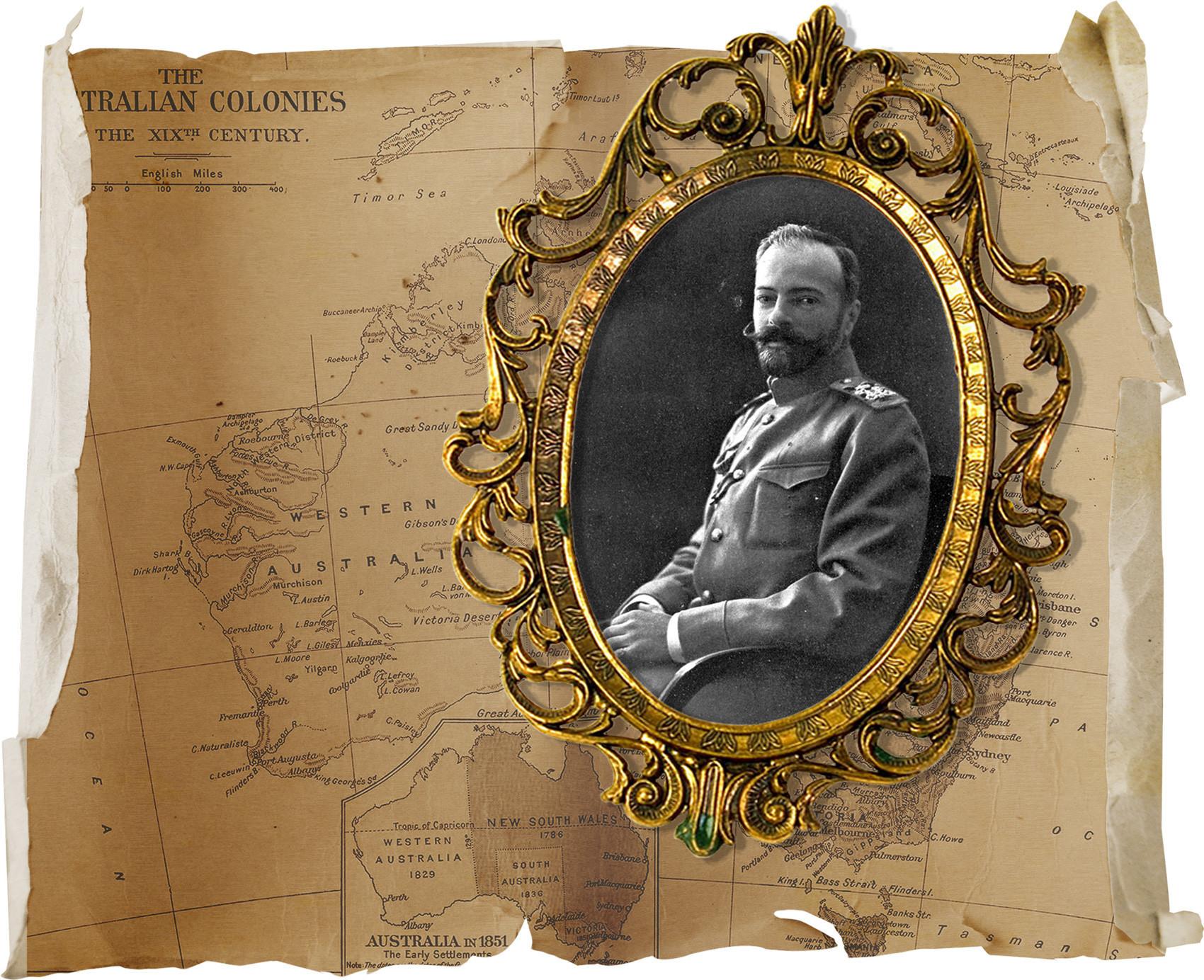 Grão-duque Aleksandr Mikhailovich, da Rússia (1866-1933).
