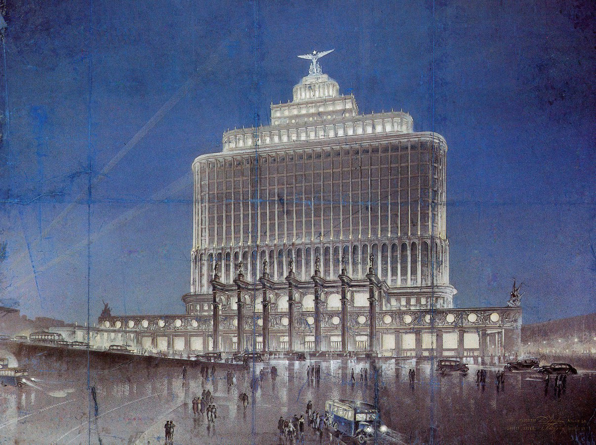 """The """"House of Aeroflot"""" project which never saw the light of day."""