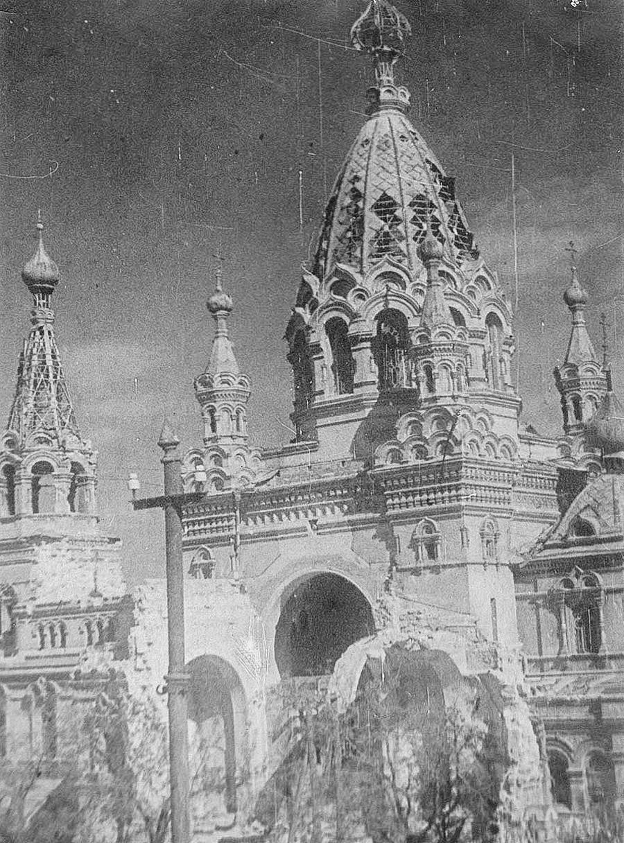 Cathédrale de l'Intercession. Détruite par les Allemands