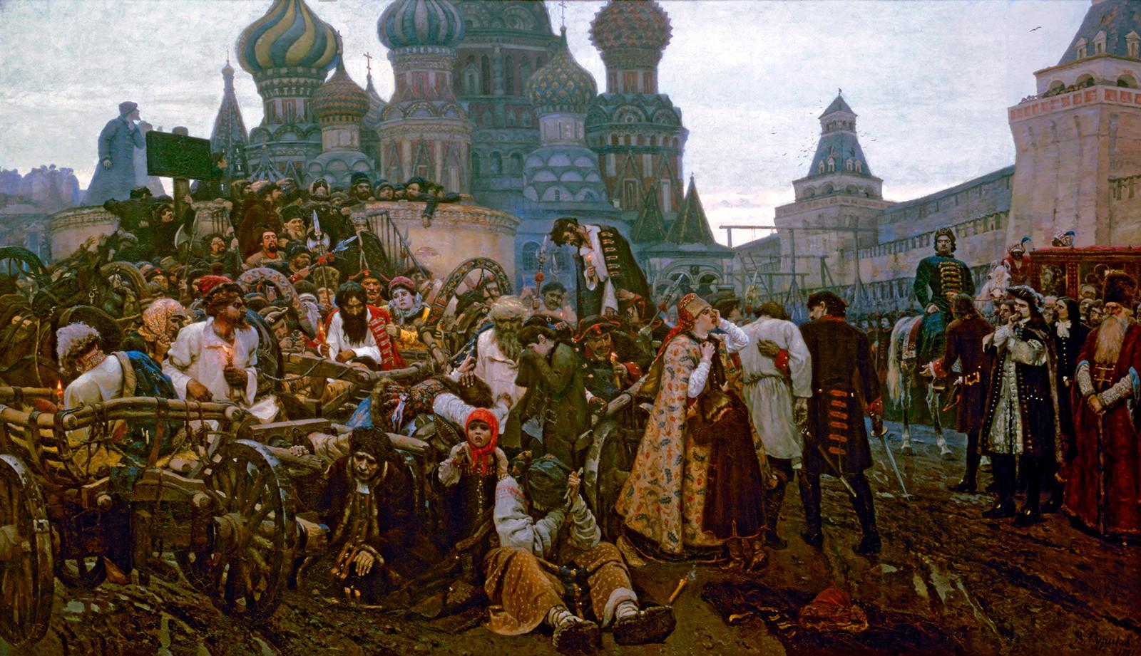 Vasiliy Surikov. 'The Morning of the Streltsy Execution' (1881).