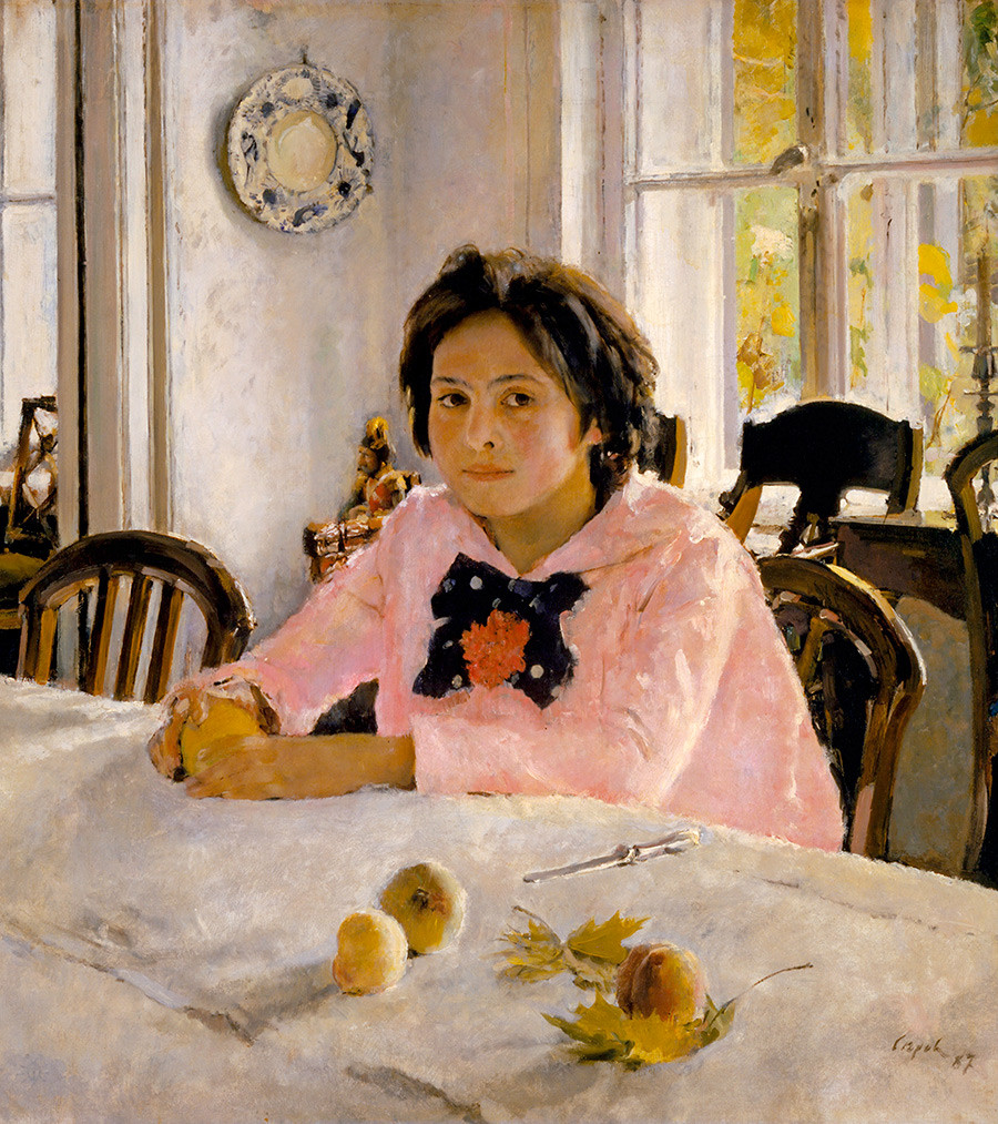 'Girl with peaches' (1881) by Valentin Serov