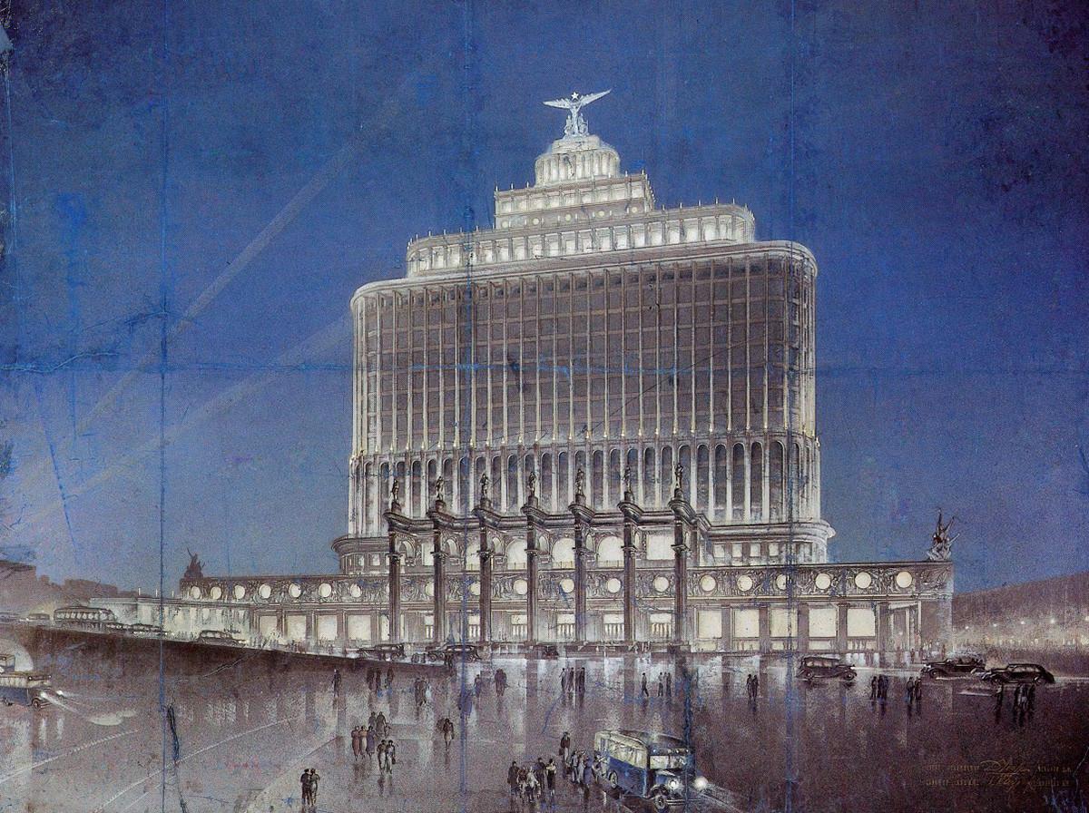 "Proyek ""House of Aeroflot"" yang tak pernah terwujud."