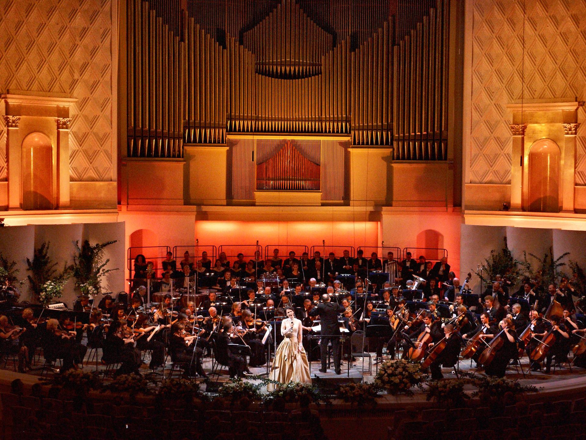 Moskovska filharmonija, koncert Mance Izmajlove s filmskim orkestrom