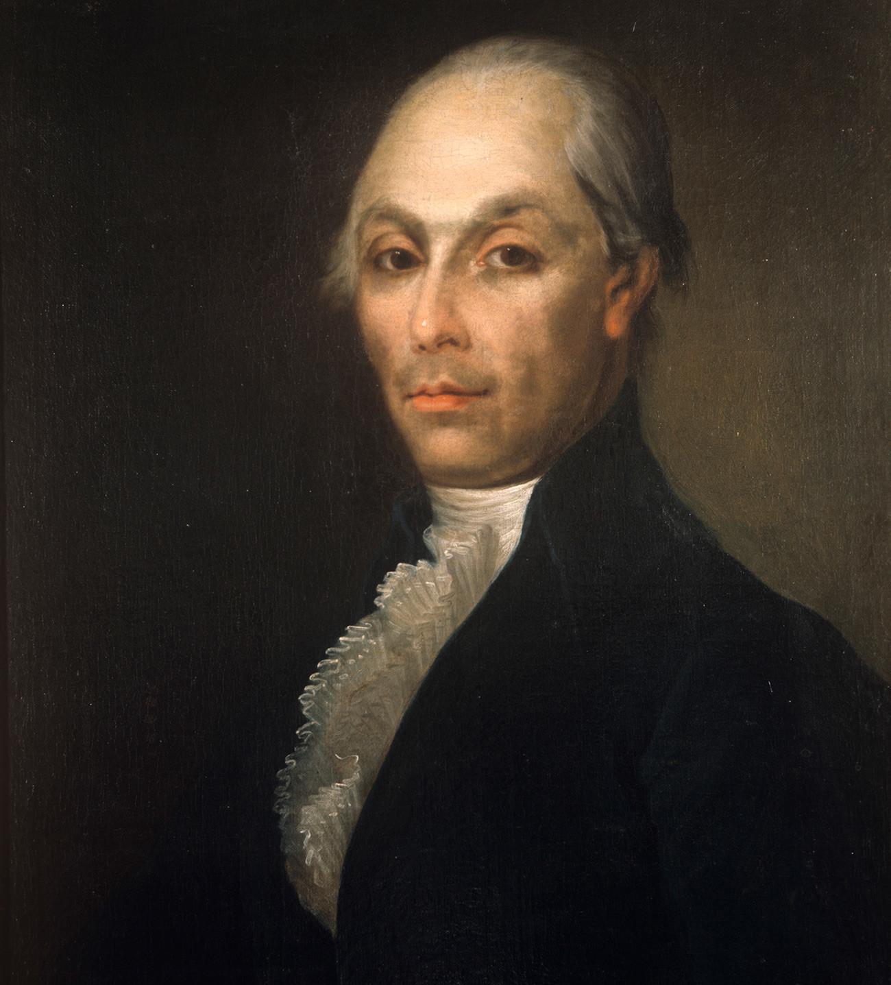 アレクサンドル・ラジーシチェフの肖像画。18世紀。画家は不明。