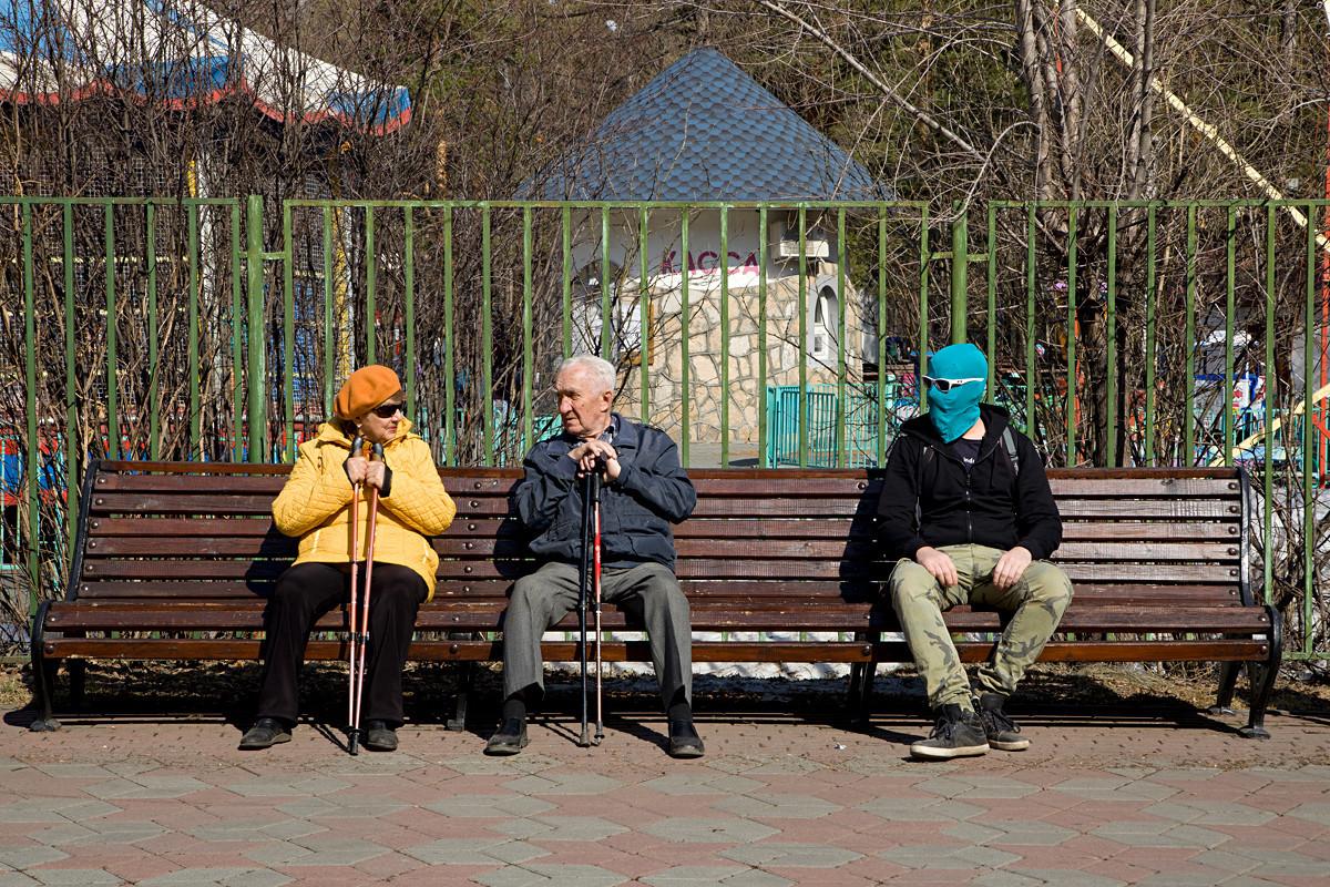 Di Taman Pusat Chelyabinsk.