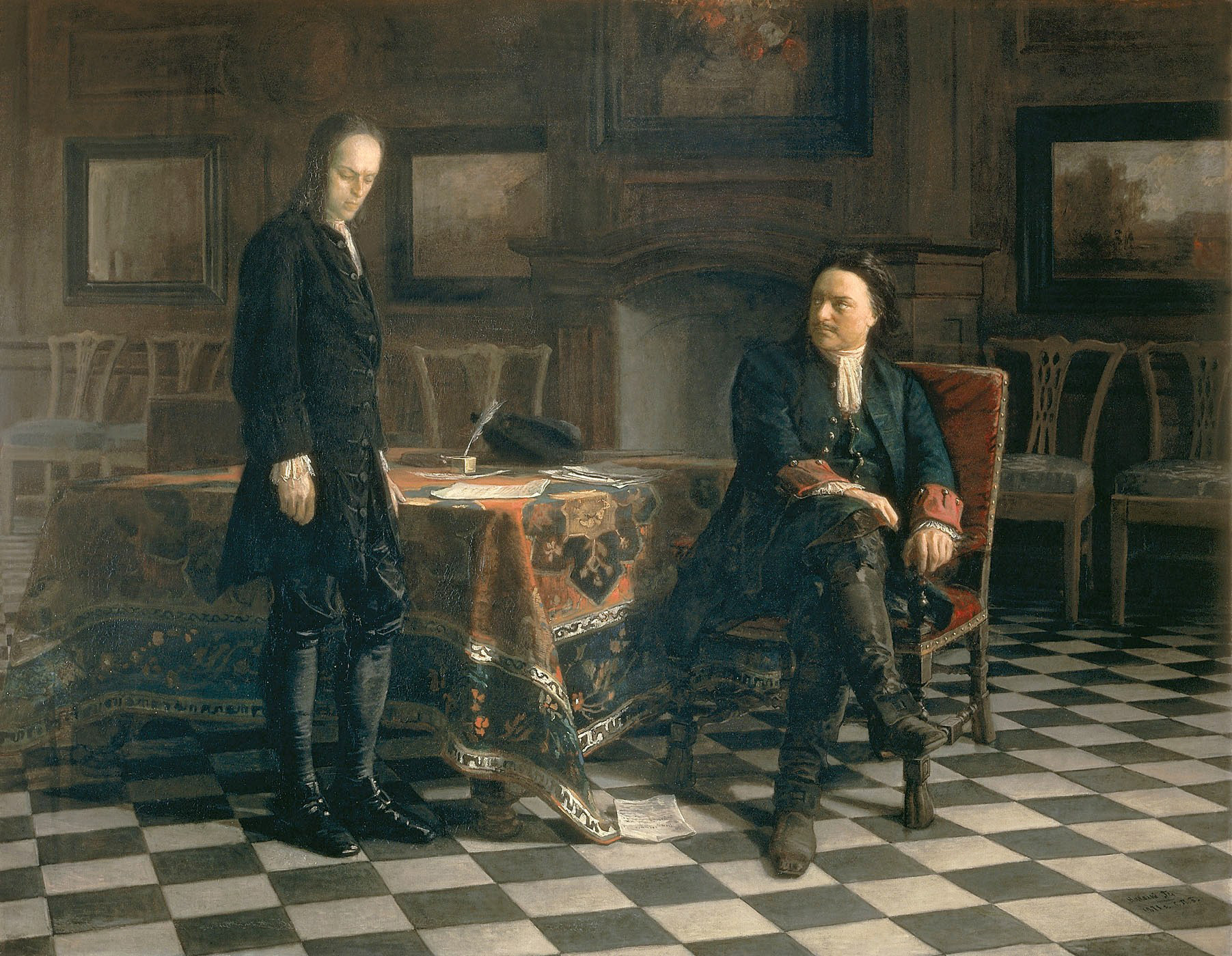 Pierre le Grand interrogeant le tsarévitch Alexis, 1871