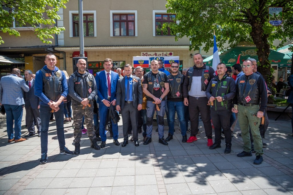 Представници амбасаде РФ у Беранама са Ноћним вуковима
