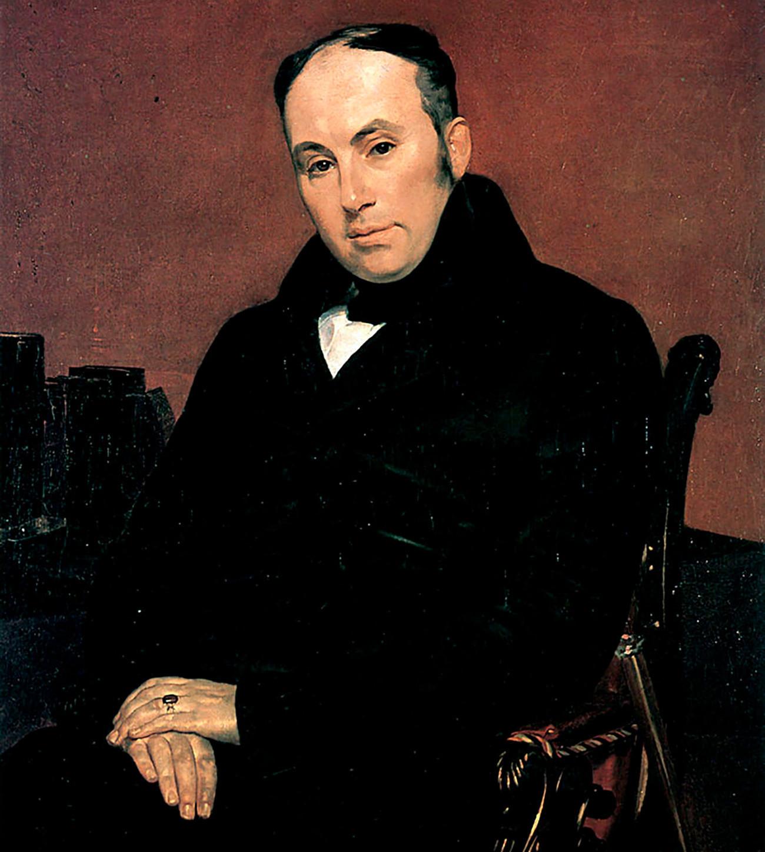 Potret Vasily Zhukovsky, yang pertama kali menggunakan istilah intelegensia dalam makna kontemporernya.