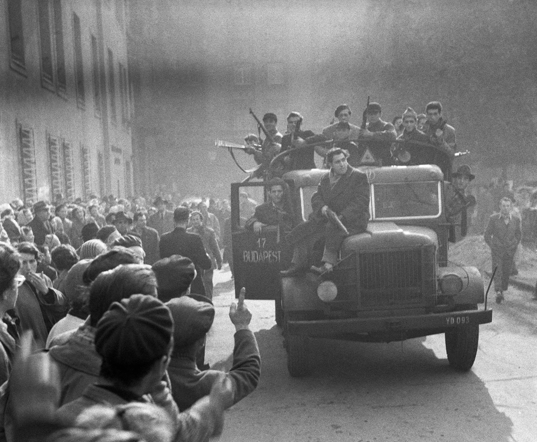 Budapest durante la Revolución húngara de 1956.