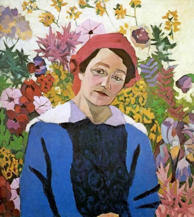 Retrato de Marina Lentulova (esposa), 1913