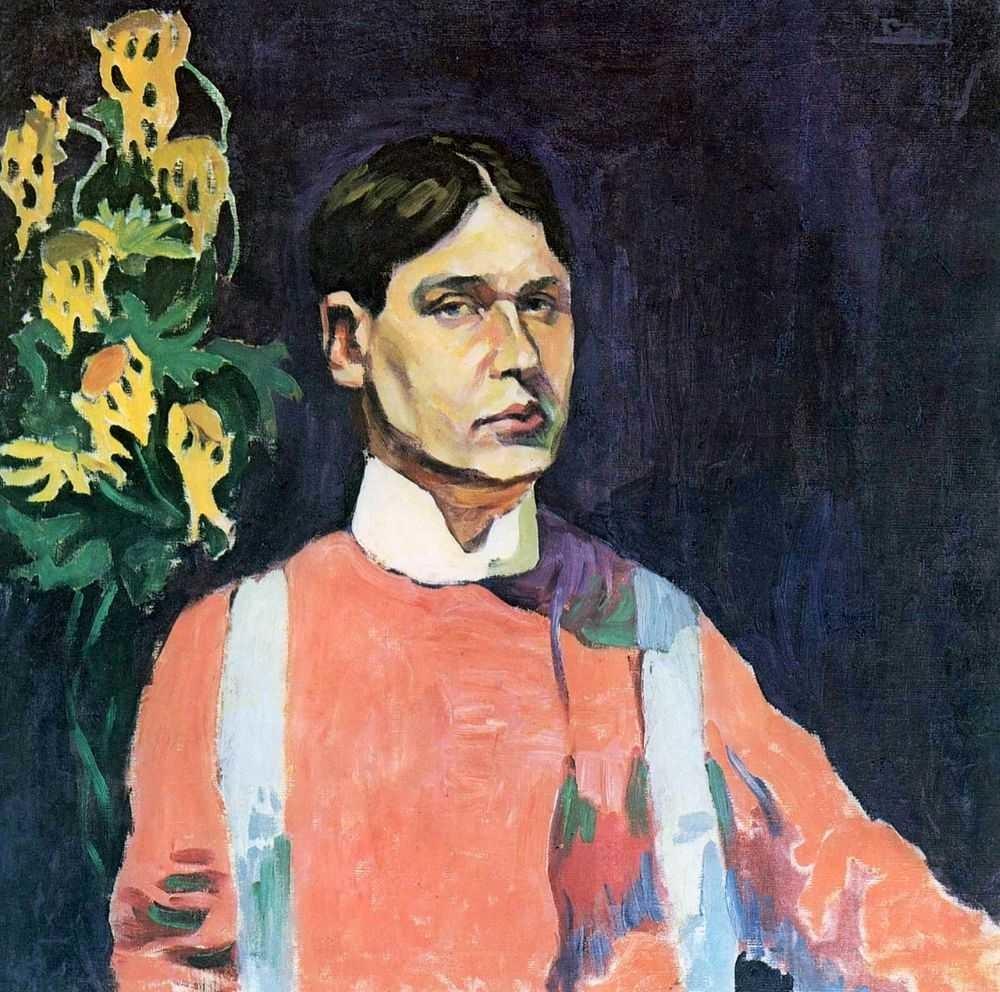 Autorretrato em vermelho, 1909