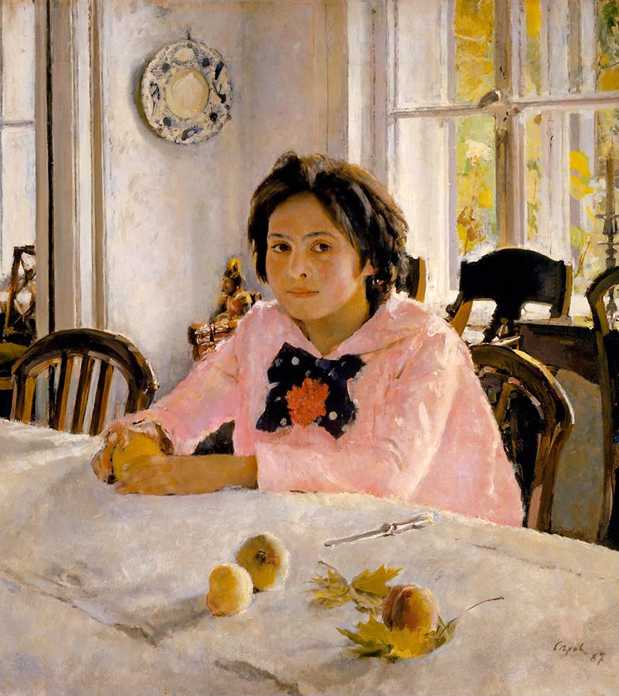 """""""Garota com pêssegos"""" (1881), de Valentín Seróv."""