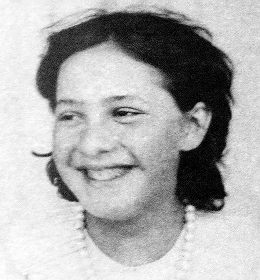 Vera Mámontova. Foto de 1888.