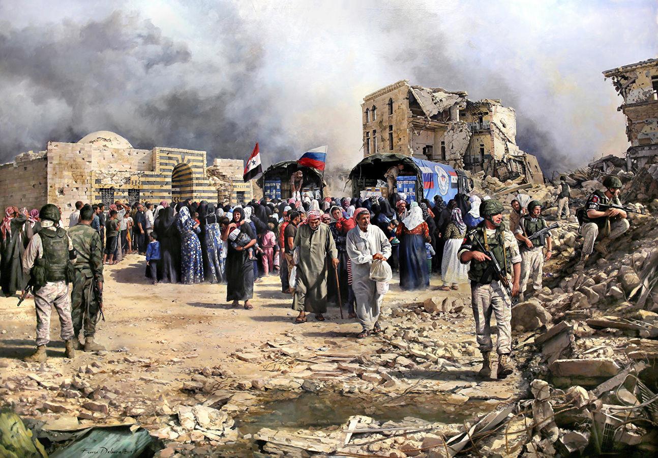 'Alepo, la ayuda ha llegado' (2018-19).