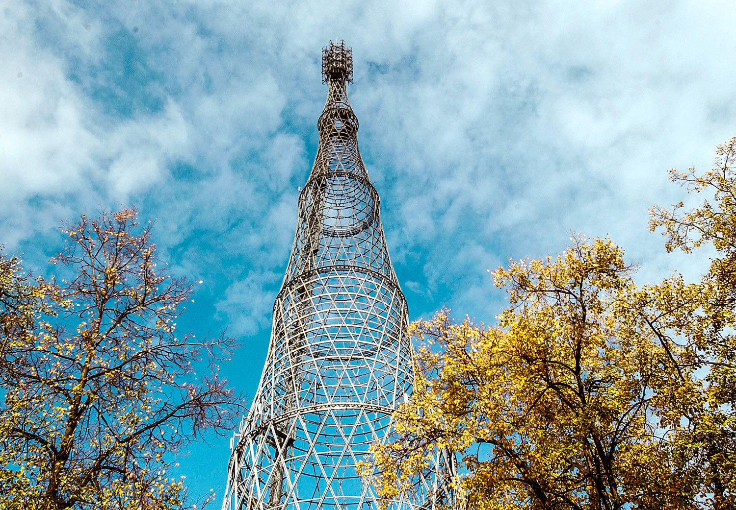 Shabolovka Tower by Shukhov in Moscow