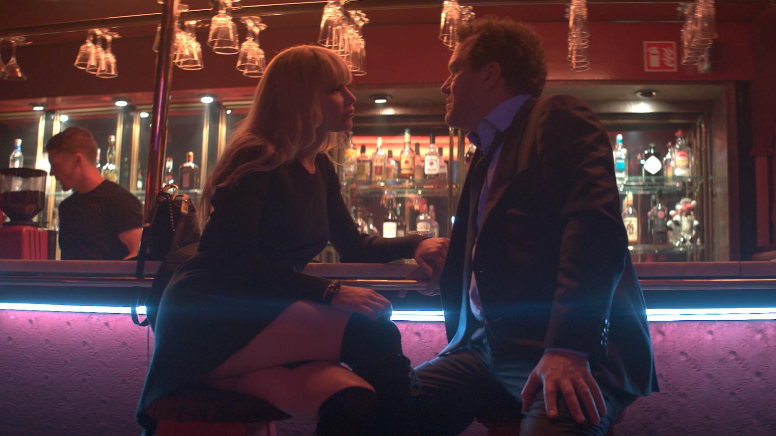 Jennifer Lawrence dalam film 'Red Sparrow' (2018).