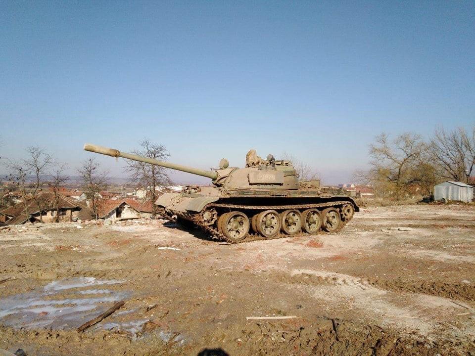 Тенк Т-55 549. моторизоване бригаде на борбеном задатку
