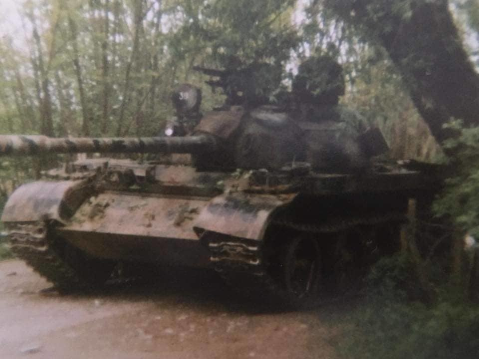 Тенк 549. моторизоване бригаде на борбеном задатку