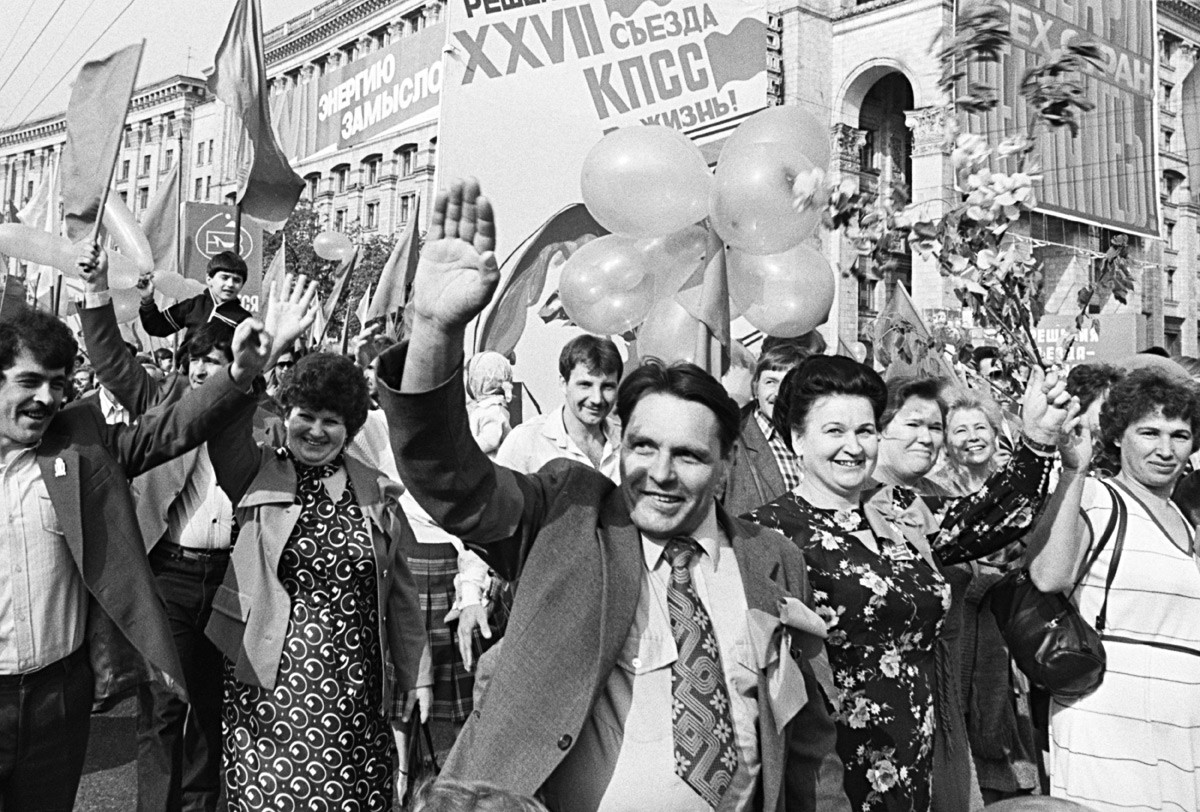Demonstration am 1. Mai 1986 in Kiew