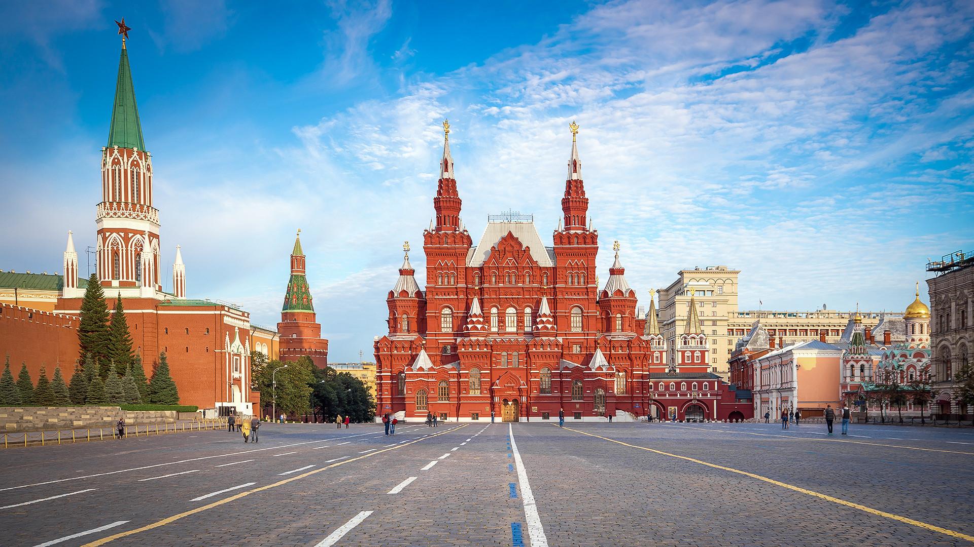 Das Staatliche Historische Museum auf dem Roten Platz
