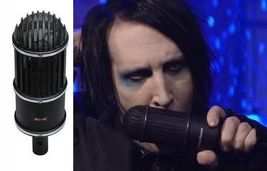 Marilyn Manson e o microfone de fita ML-52-02 da 'Oktava'.