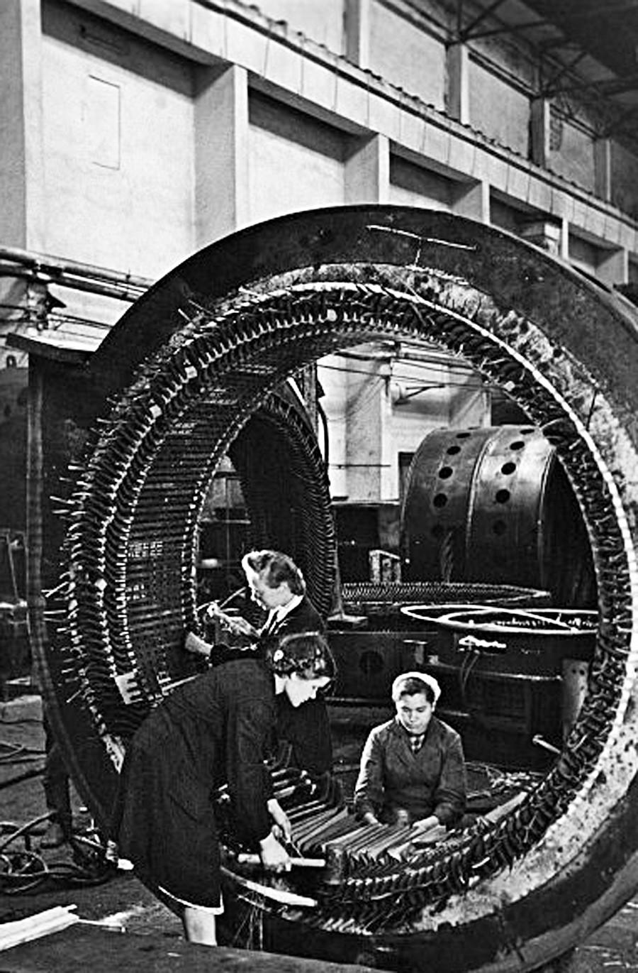 Brigade d'isolation de l'usine « Ouralelektroapparat » (Appareils électriques de l'Oural), 1950
