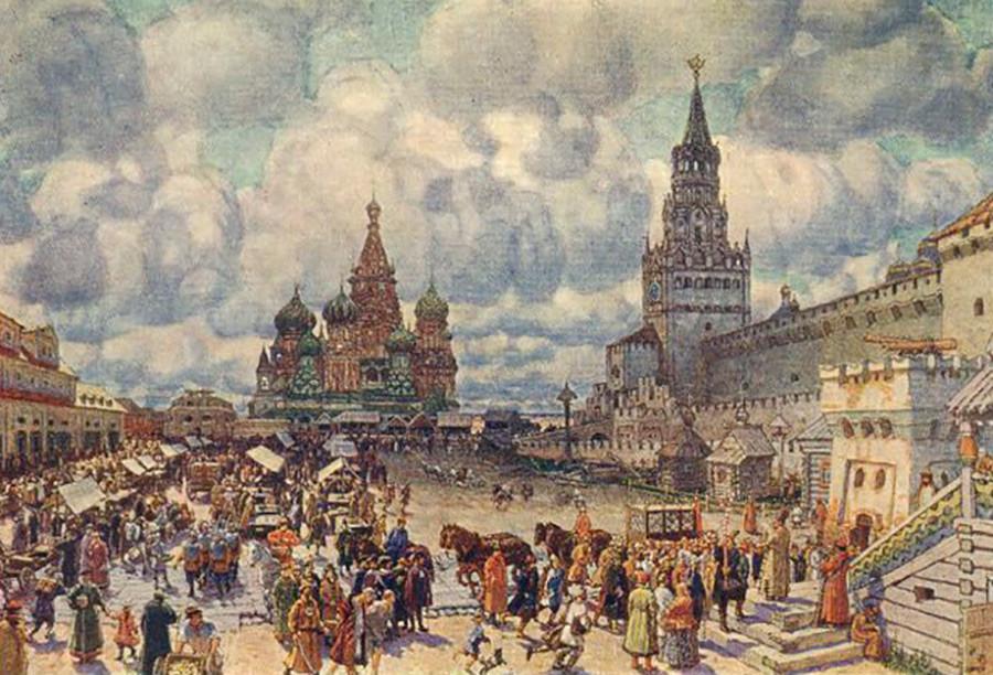 Praça Vermelha na segunda metade do século 17.