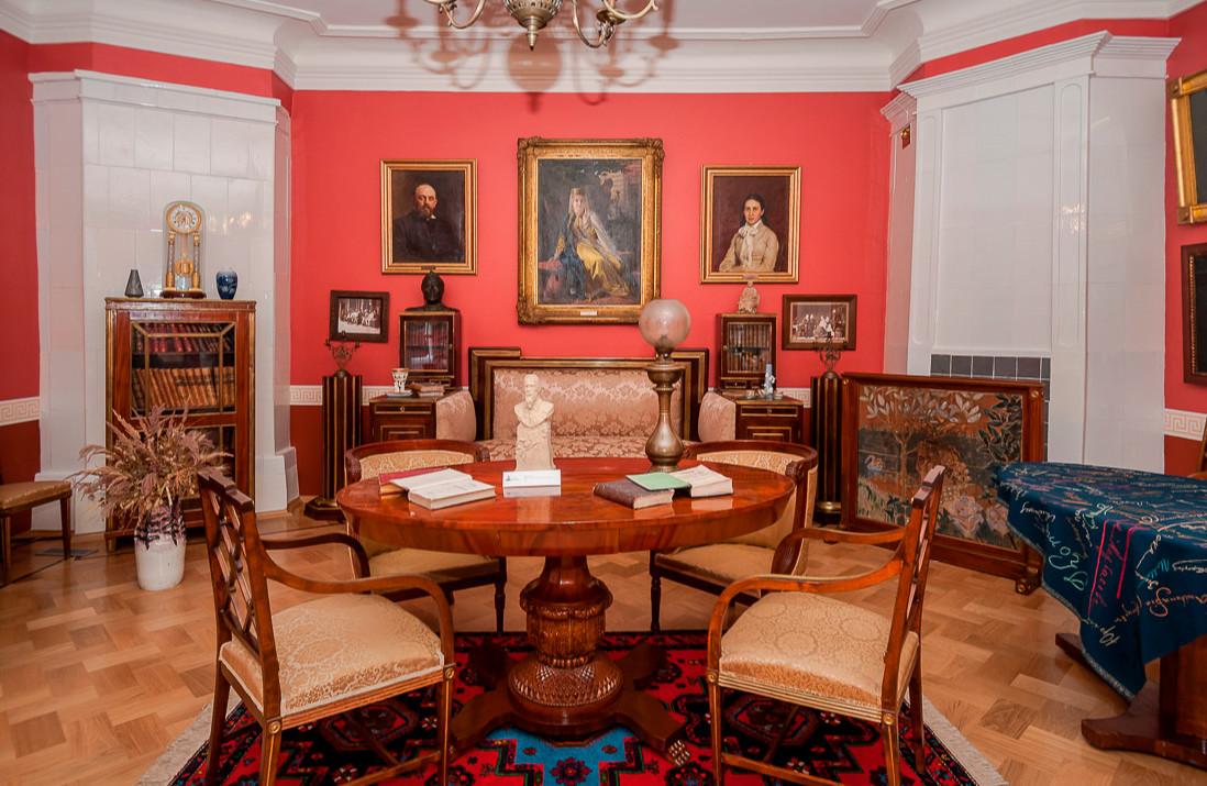 Inside the main house