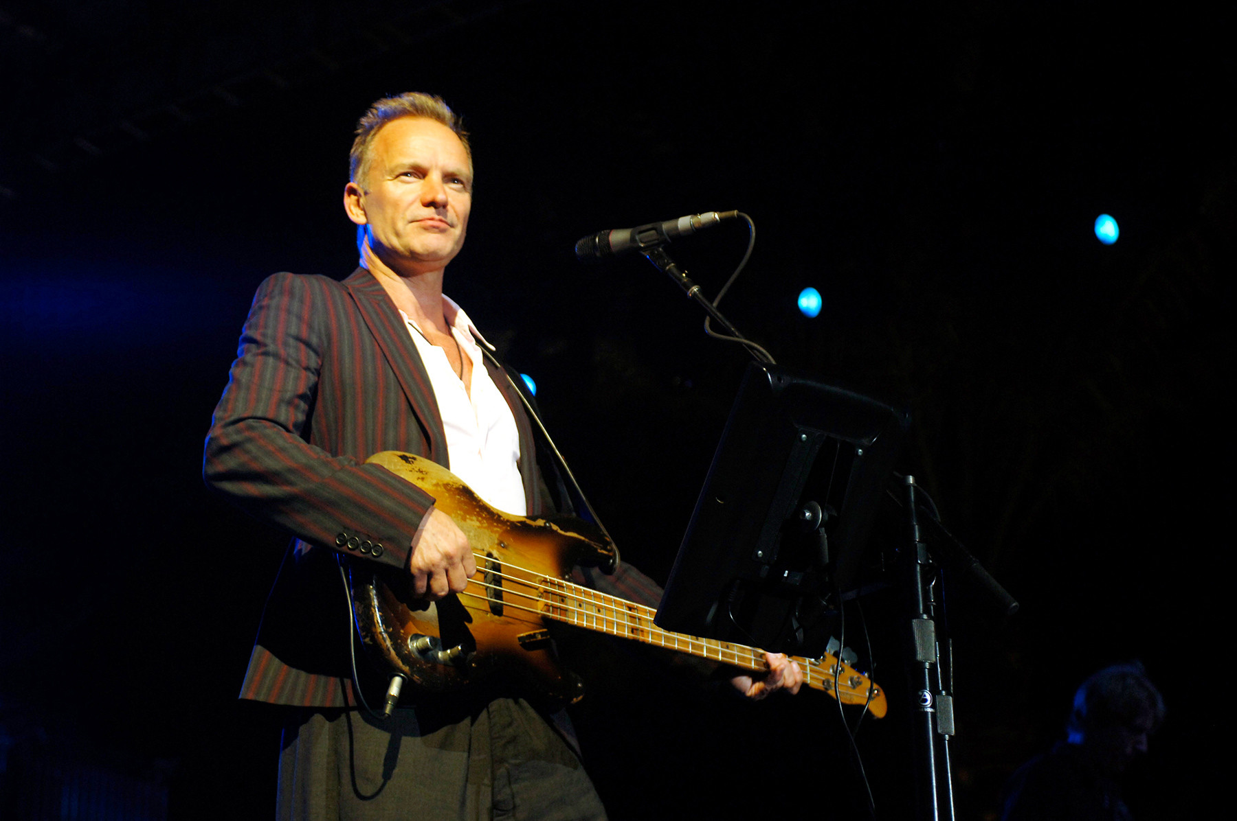 Sting (the mic on the photo is not produced by the Oktava plant)