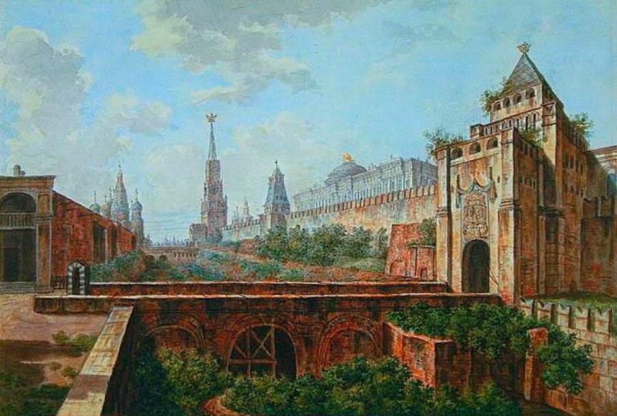"Lukisan ""Lapangan Merah pada paruh kedua abad ke-17"" karya Appolinary Vasnetsov."