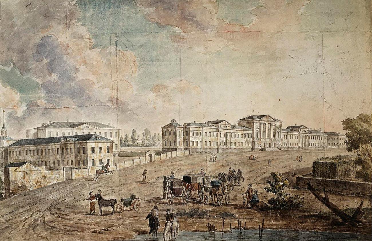 Војна болница у Лефортову, почетак 19. века.