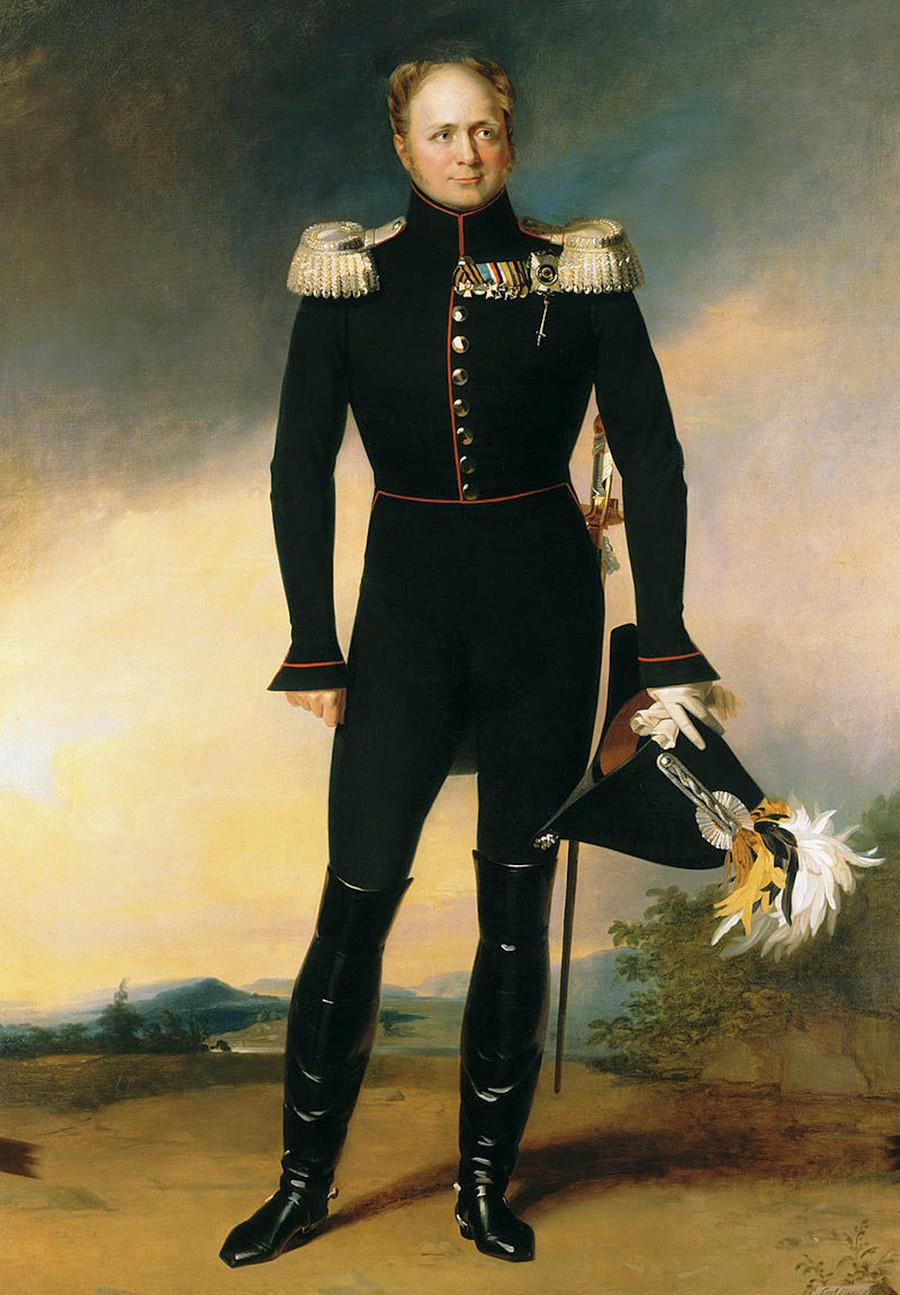Potret Kaisar Alexander I — Alexandrina Victoria sebenarnya dinamai menurut namanya.